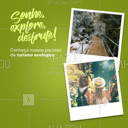 E você pode parcelar qualquer um dos pacotes até 12x sem juros! ?✈ #Ecotrip #Turismoecologico #AhazouTravel  #viagempelobrasil  #viajar  #trip  #agenciadeviagens