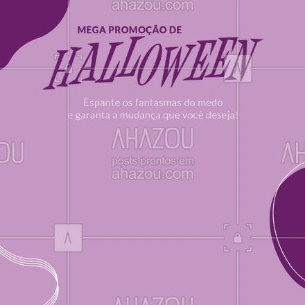 Vamos aproveitar o Halloween e radicalizar nas mudanças! ??  #Halloween #PromoçãodeHalloween #AhazouBeauty #beauty #estetica
