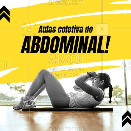 Não perca tempo, se inscreva e aproveite os benefícios: - fortalecimento abdominal; - definição; - aulas animadas e em grupo. Inscreva-se! #AhazouSaude #abdominal  #personal  #personaltrainer  #boratreinar  #nopainnogain