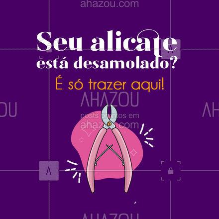 Alicata desamolado? Traga aqui! Estamos no endereço: ?(preencher) #AhazouServiços #alicate #serviços #alicateamolado #chaveiro