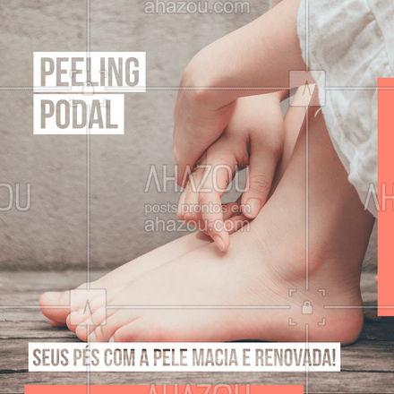 O peeling podal proporciona aos pés a renovação celular, produção de colágeno, diminuição de sulcos e deixa a pele macia e lisinha! Então está esperando o que para agendar já o seu horário! #beleza #pedicure #procedimento #AhazouBeauty #peeling #peelingpodal #pelisinho #cuidados