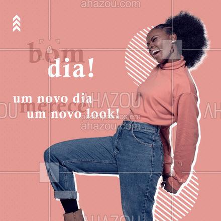 Bom dia, já preparou o seu look de hoje? O que está na moda agora é usar roupas que te façam se sentir bem! #AhazouFashion  #lookdodia #fashion #OOTD #style #moda #outfit