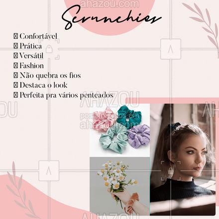 Temos scrunchies, a queridinha do momento ?   #AhazouFashion #costureira #fashion #scrunchies #AhazouFashion