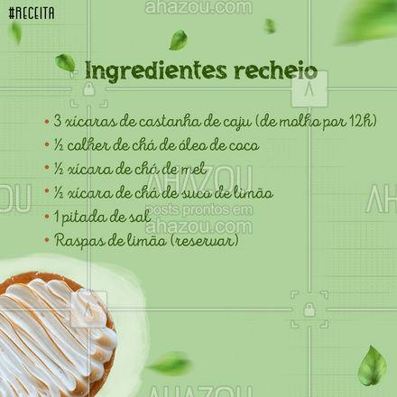 Você já salvou essa receita pra garantir a sobremesa do fim de semana? ? #carrosselahz #ahazoutaste #hortifruti #vidasaudavel #qualidade #receita #sobremesa #ahazoutaste
