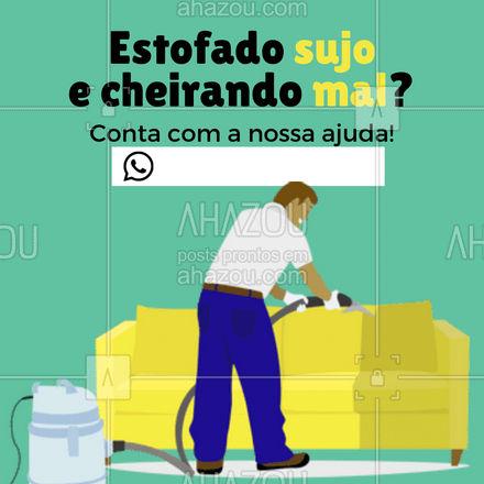 Você não precisa ter que conviver com o sofá sujo, chama a gente que nós resolvemos! ?#estofados #limpezadesofás #AhazouServiços #serviçospracasa #casa