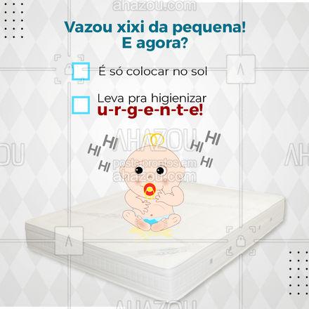 Vai deixar o colchão sujo ou já vai mandar higienizar? ? Fala a verdade, hein! ? #AhazouServiços #higienização #limpeza #engraçado #enquete
