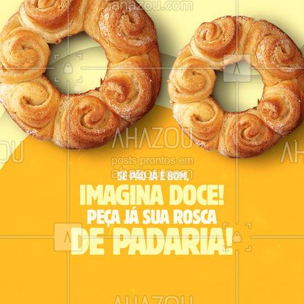 Temos roscas fresquinhas esperando por você! ?? #rosca #roscadepadaria #ahazoutaste  #padaria  #padariaartesanal  #bakery