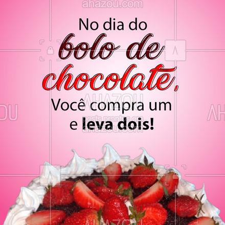 Tem promoção melhor que essa? A gente sabe que não rsrs! Vem pra cá e garanta seu bolo de chocolate! (Os dois rsrs)  #ahazoutaste  #bolo #bolocaseiro