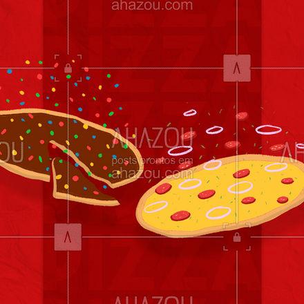 Qual vai ser a pedida hoje doce ou salgada? Ou uma de cada? Você que manda! Peça já seus sabores favoritos.?? #pizza #food #pizzalover#ahazoutaste #pizzatime #delivery #pizzeria #pizzalovers #delicious #pizzaria #pizzalife #ahazoutaste