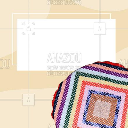 Venha conhecer nossa linha de tapetes de crochê, você vai se apaixonar. 🧵 #AhazouFashion #costureira #tricot #modasustentavel #encomendas #costuraereparos #tapetedecroche