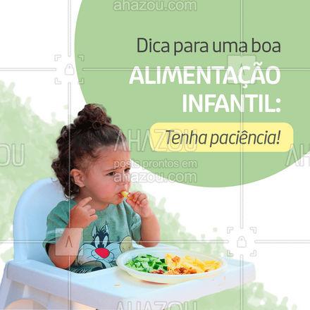 É importante oferecer pelo menos três vezes o mesmo alimento quando a criança o rejeita. Se for necessário, mude a forma de preparação da comida, até que a criança aceite. Além disso, busque sempre fazer um cardápio equilibrado. ??#alimentaçãoinfantil #aliementação #infantil #dicas #crianças #nutrição #AhazouSaude #saude  #alimentacaosaudavel  #nutricao  #bemestar  #viverbem