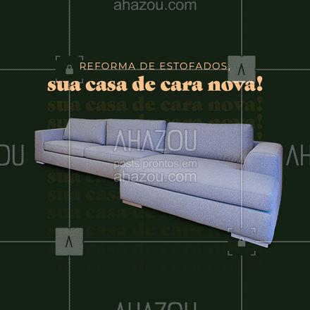 Um sofá reformado deixa sua casa mais bonita.  Solicite já o seu orçamento! ?#reformadeestofado #orçamento #AhazouServiços #casa