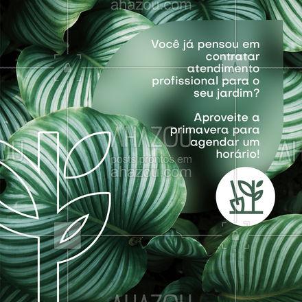 Oferecemos o melhor atendimento, indo até sua casa para que seu jardim receba atenção especial e um cuidado maternal 🥰🌺 #AhazouServiços #residencia  #servico  #servicosparacasa  #agendamento #primavera #jardinagem #paisagismo