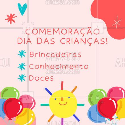 Traga sua criança para um dia muito especial! Muitas brincadeiras e aprendizado! #AhazouFé #diadascriancas #festa #comemoracao  #gratidão  #fé