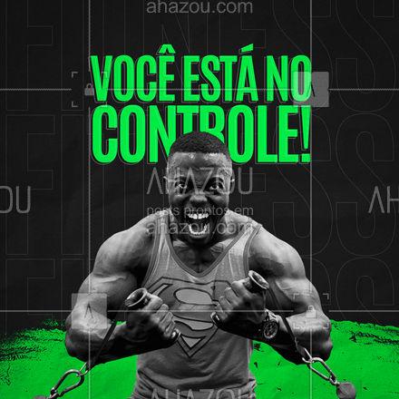 Você está no controle do seu físico! Estipule suas metas e matenha o foco que o resultado vem! ? #AhazouSaude  #boratreinar #personaltrainer #nopainnogain