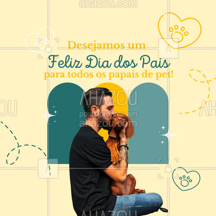 E por falar em amor, um Feliz Dia dos Pais à todos pais de pet! 😊 #AhazouPet  #cats #ilovepets #dogsofinstagram #petoftheday #dogs #petlovers #petsofinstagram #paidepet #pet #frases #motivacional #diadospais #felizdiadospais