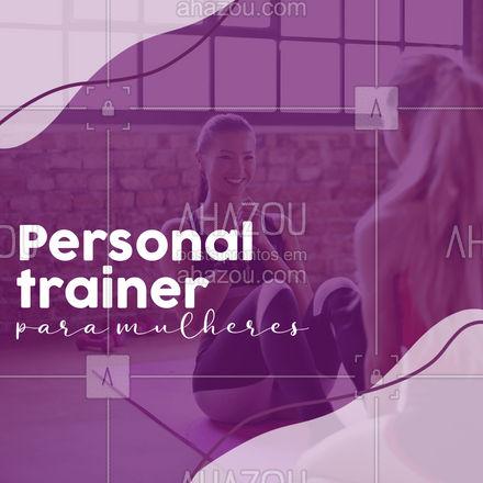 Trabalhamos com treinos exclusivos para mulheres, planos personalizados de acordo com os objetivos de cada aluna! Venha fazer parte do nosso time! #personalwoman #treinomulheres #gym #girlpower #AhazouSaude  #personal #personaltrainer #boratreinar #nopainnogain