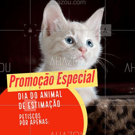 No dia do animal de estimação o petisco tem desconto! ? Vem aproveitar ♥ #AhazouPet #AhazouPet  #petsofinstagram #dogs #petoftheday #ilovepets #promopets