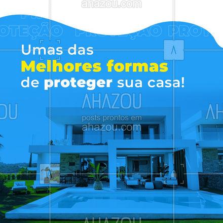 Prático, pouca manutenção, instalação única!! Alarme residencial é a forma perfeita de proteção para sua residência  #AhazouServiços  #eletricista #eletricidade #alarmes #alarmeresidencial #serviços #casa