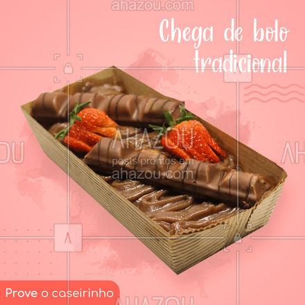 O bolo caseirinho é diferente do bolo caseiro tradicional, que tem um formato arredondado.  O bolo caseirinho é servido em uma forma retângular, e oferece uma variedade de sabores para todos os gostos. Já escolheu o seu?  #ahazoutaste  #confeitaria #bolo