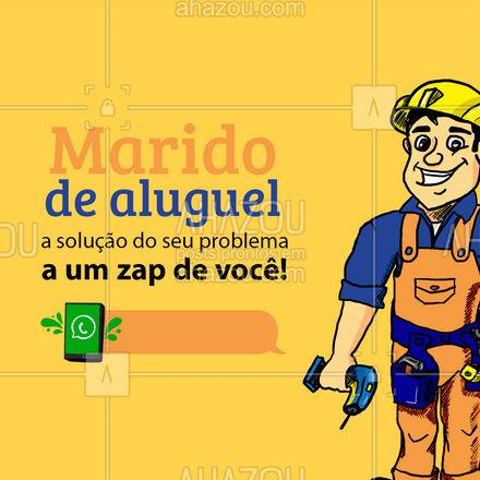 O que você está esperando para agendar o seu serviço e se livrar daquele problema que está te incomodando? ? #maridodealuguel #serviços #AhazouServiços #reparos  #manutençao
