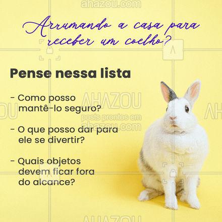 Tudo que você ouviu sobre coelhos é verdade: eles vão, literalmente, roer tudo que estiver a vista. O melhor a fazer é ter um espaço criado e organizado para socialização mas, na maior parte do tempo, deixar seu pet em uma gaiola com tamanho suficiente para ter uma vida saudável. #AhazouPet #veterinario #vet #veterinaria