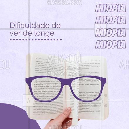 Você sabia que mais de 35 milhões de pessoas no Brasil apresentam algum tipo de problema de visão? Confira os mais comuns arrastando para o lado. #Dicas #AhazouÓticas #Óculos