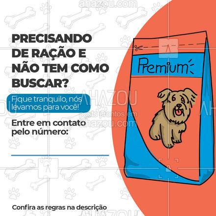 Está muito ocupado ou não tem como buscar a ração do seu pet? Fique tranquilo que nós entregamos para você! É só entrar em contato pelo número acima, entregas grátis a partir do valor: (R$____ ) ??#Petshop #Pet #AhazouPet #Cat #Dog