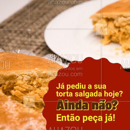 Ainda não garantiu a sua? Não perca mais tempo! Entre em contato e peça já a sua! #eat #ilovefood #instafood #ahazoutaste #foodlovers #torta #tortasalgada #delivery #entrega