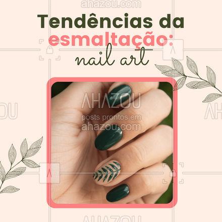 A principal regra da nail art é: se joga! Não há um padrão, você escolhe seu desenho favorito, que podem ser listras, tie-dye, o que a sua imaginação permitir! #esmalte #AhazouBeauty #unhas #nailart #nailsaloon