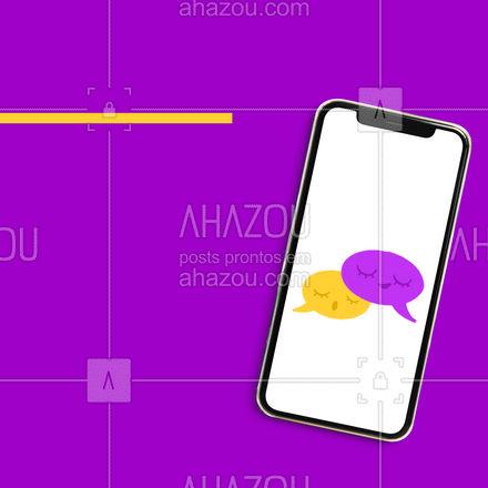 Queremos conhecer melhor você. Manda uma mensagem pra gente conversar! ? #mensagem #ahazou