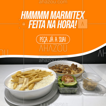 Nada como uma marmita com comida feita na hora, né? Peça a sua! (xx) xxxxx-xxxx #ahazoutaste #marmitando  #marmitex  #comidacaseira  #comidadeverdade  #marmitas #comidafresca #pedido #entrega #delivery