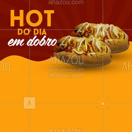 Bateu a fome? Aproveita que hoje o hot dog é em dobro! Peça pelo delivery! #ahazoutaste #hotdog  #hotdoglovers  #hotdoggourmet  #cachorroquente  #food #hotdogemdobro #hotemdobro #promoção #pedido #delivery