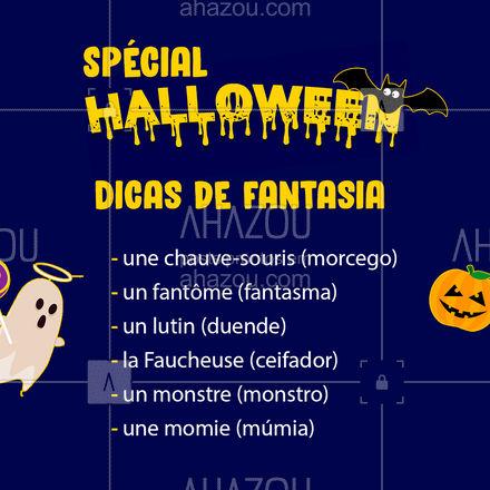 E você, já escolheu sua fantasia de Halloween? ?? #Halloween #Frances #AhazouEdu #AulasdeFrances #DicasdeFrances