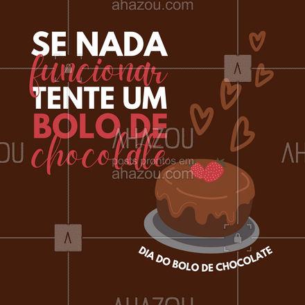 O dia do bolo de chocolate tem que ser comemorado! Aproveite e peça o seu com a gente! #ahazoutaste  #bolo #confeitaria