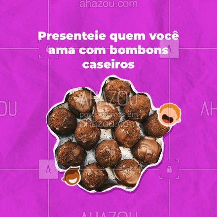 Com certeza quem receber nossos bombons vai ficar muito feliz. Presenteie quem você ama.#ahazoutaste #docinhos #foodlovers #confeitaria