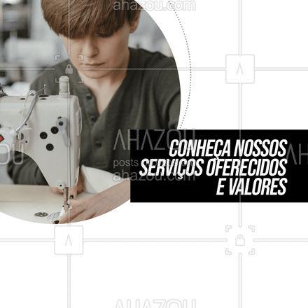 Todos os nossos serviços são oferecidos com 100% de qualidade, para que sua roupas fiquem ainda mais lindas. ? #AhazouFashion #costureira #reparos #encomendas #costuraereparos