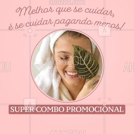 Agora ficou mais fácil começar a cuidar de você mesma! ?? #combos #especial #beleza #ahazoubeauty #beauty #promocional