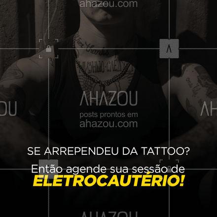 Se livre daquela tattoo que você se arrependeu! O eletrocautério vai te ajudar! Agende o seu horário! #bemestar #esteticafacial #saúde #AhazouBeauty #beleza #eletrocautério