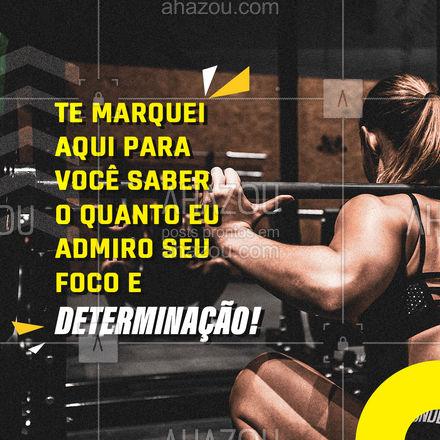 Marque aquele amigo (a) que é super dedicado e focados nos treinos, para ele (a) saber o quanto você o (a) admira! #personaltrainer #AhazouSaude #boratreinar #nopainnogain #marquealguem #marqueumamigo #marqueumaamiga