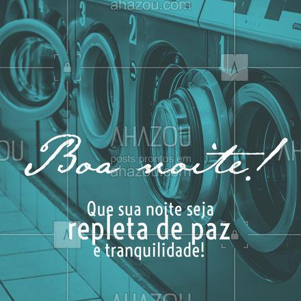 Se preocupe apenas com sua noite de descanso e deixe que de suas roupas nós cuidaremos! #boanoite #roupas #AhazouServiços #roupaslimpas #descanço