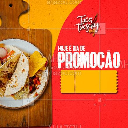 No dia oficial do taco que tal aproveitar essa promoção???? #ahazoutaste  #comidamexicana #cozinhamexicana #vivamexico #texmex #tacos #promocao #vegetariano #veg #govegan