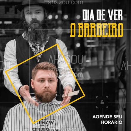 Que tal começar o sábado cuidando de você? Agende seu horário via Whatsapp (Número do whats). Estamos esperando por você! #AhazouBeauty  #barbeirosbrasil #barbeiro #barberShop #cuidadoscomabarba