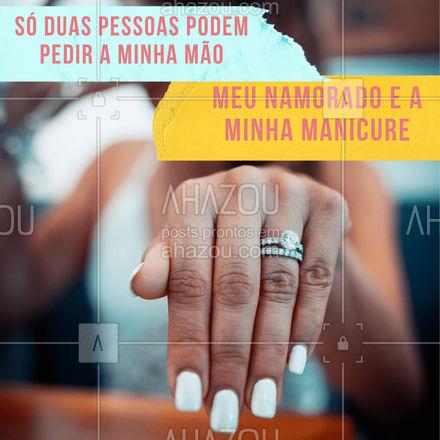 Um te dá um anel, e o outro, unhas que combinam com esse anel. Só não garantimos que vai ser ao mesmo tempo. ?  #AhazouBeauty  #unhasdehoje #manicure #unhas #manicure