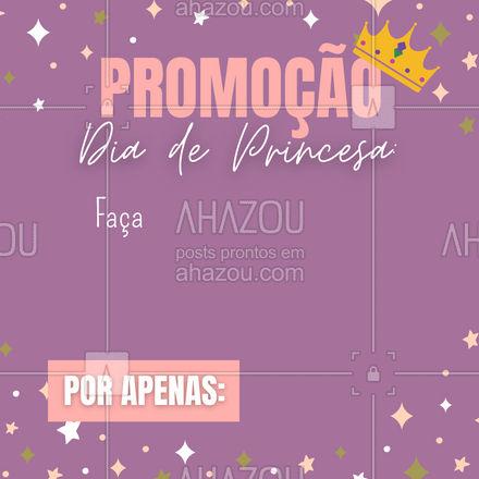 Todo mundo merece um dia de princesa! Marque um horário conosco e desperte a princesa que há em você! ❤️  #AhazouBeauty  #beauty #estetica #promoção