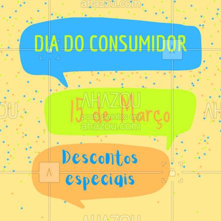 Venha aproveitar nossas promoções do Dia do Consumidor! #AhazouAuto #diadoconsumidor #promoção #desconto #convite #AhazouAuto
