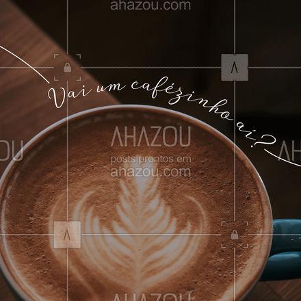 Para despertar e esquentar, nada melhor que o bom e velho café! Entre em contato e peça o seu! #cafeteria #café #coffee #ahazoutaste #barista #coffeelife #cappuccino