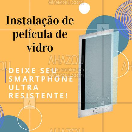 Garanta uma tela resistente a impactos e arranhões! ? #assistenciacelular #celulares #peliculas #ahazoutec #celular #tablets #assistencia