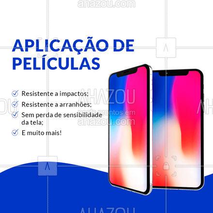 Deixe seu smartphone ultra resistente com uma de nossas películas! ? #assistenciacelular #celulares #peliculas #ahazoutec #celular #tablets #assistencia