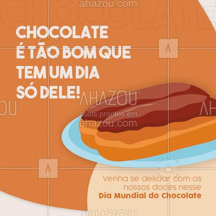 Para comemorar essa data tão especial que tal um doce com bastante chocolate? ? Encomende já o seu!#Diamundialdochocolate #ahazoutaste #chocolate #doces #chocolatequente #padaria #cafedamanha #ahazoutaste